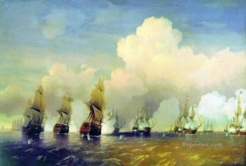 battleship warship war ship Painting - battle of krasnaya gorka 1866 Alexey Bogolyubov warships naval warfare