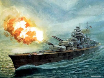 battleship warship war ship Painting - modern war ship