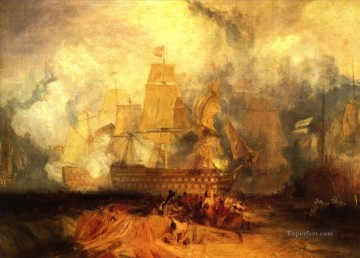 Warship Painting - sea battle Joseph Turner