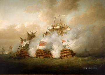 Battles Art Painting - sea fight european countries battleships