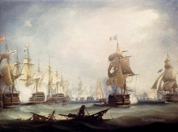 Warship Painting - the battle of trafalgar 1805 warships