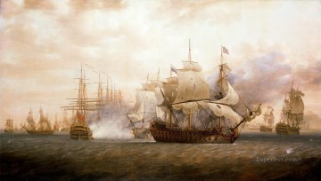 Warship Painting - Battle of Frigate Bay Naval Battle
