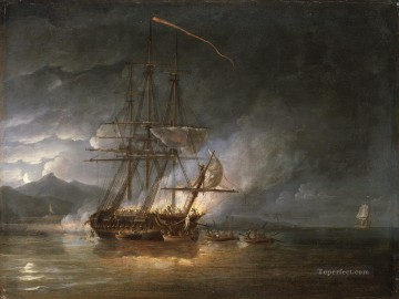 Hermione cutting out Naval Battles Oil Paintings