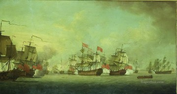 Knowles Action Naval Battles Oil Paintings