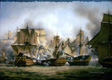 Trafalgar 2 Naval Battles Oil Paintings