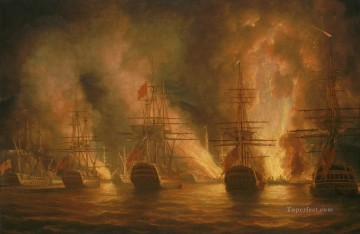 Trinidad 1797 Naval Battles Oil Paintings