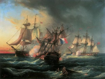 Vaisseau Droits de lHomme Naval Battles Oil Paintings