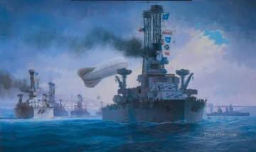 battleship warship war ship Painting - modern battleships