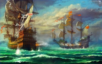 Naval Canvas - naval battle