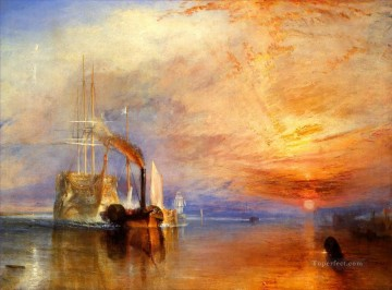 battleship warship war ship Painting - the fighting temeraire tugged to her last berth to be broken up warships