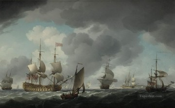 warships storm Oil Paintings