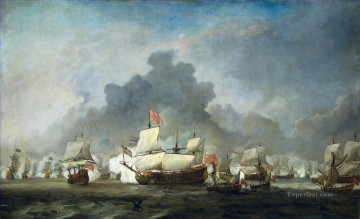 Battle of Solebay 1672 De Ruyter 1691 Naval Battles Oil Paintings
