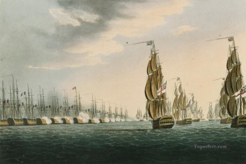 Battle of the Nile Whitcombe 2 Sea Warfare Oil Paintings