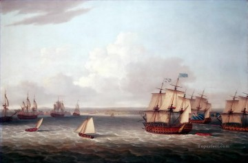 British fleet entering Havana Naval Battles Oil Paintings