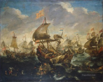 Eertvelt Andries van ZZZ Sea Battle Oil Paintings