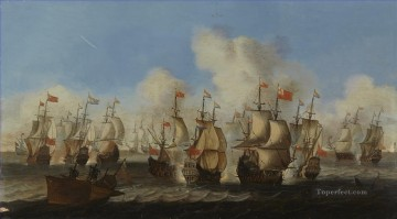 Engelska och hollandska fartyg i krig fran 1600 talet Skoklosters slott Sea Warfare Oil Paintings