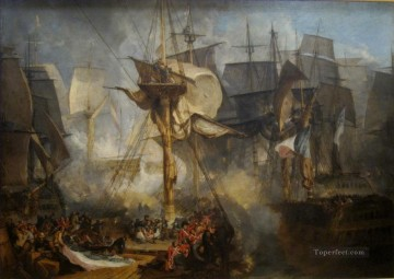 Joseph Mallord William Turner naval battle Oil Paintings