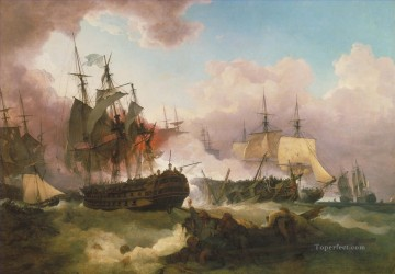 Battles Art Painting - Phillip James De Loutherbourg The Battle of Camperdown Naval Battles