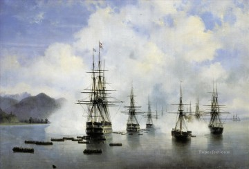 Subashi desant war ships Oil Paintings