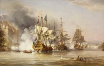 The Capture of Puerto Bello by George Chambers Snr Naval Battles Oil Paintings