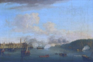 Battles Art Painting - View of the Siege of Havana II by Dominic Serres Naval Battles