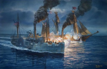 modern warship American Oil Paintings