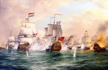 the battle of sole bay new Oil Paintings