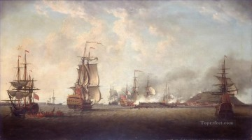 Attack on Goree 29 decembre 1758 Naval Battles Oil Paintings