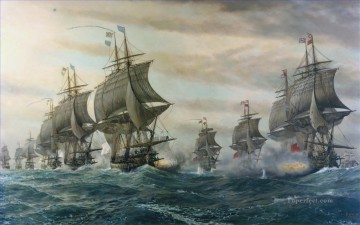 Warship Painting - Battle Of Virginia Capes Naval Battles