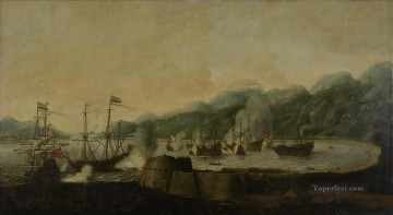 Warship Painting - Battle at Goa Naval Battles