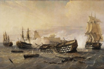 Warship Painting - British ships in the Seven Years War before Havana Naval Battles