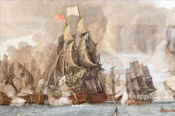 Combat naval 12 avril 1782 Dumoulin 2 Naval Battles Oil Paintings