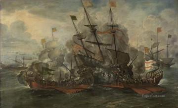Combate naval por Juan de la Corte Naval Battles Oil Paintings