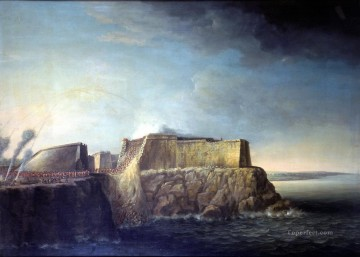 Battles Art Painting - Dominic Serres the Elder The Capture of Havana 1762 Storming of Morro Castle Naval Battles
