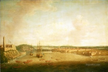 Battles Art Painting - Dominic Serres the Elder The Capture of Havana 1762 Taking the Town Naval Battles