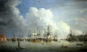 Naval Canvas - Dominic Serres the Elder The Captured Spanish Fleet at Havana 1762 Naval Battles