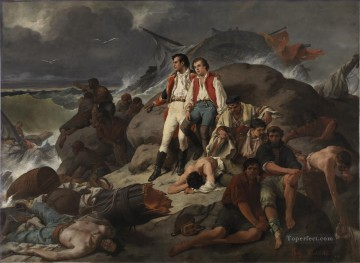 Episodio de la batalla de Trafalgar 1862 Francisco Sans y Cabot Naval Battles Oil Paintings