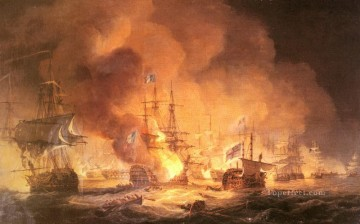 Luny Thomas Battle Of The Nile 1798 Naval Battles Oil Paintings