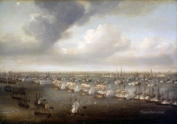Warship Painting - Nicholas Pocock The Battle of Copenhagen 1801 Sea Warfare