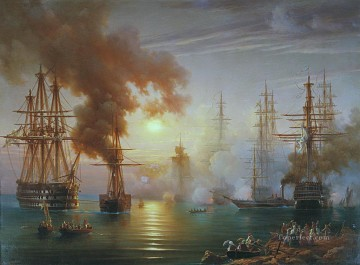 Warship Painting - Russian Black Sea Fleet after the battle of Synope 1853