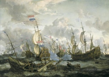 Warship Painting - Storck Four Days Battle Naval Battles
