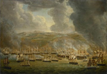 Warship Painting - The Anglo Dutch fleet attacks Algiers in 1816 Gerardus Laurentius Keultjes 1817 Sea Warfare