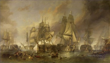 Warship Painting - The Battle of Trafalgar by William Clarkson Stanfield
