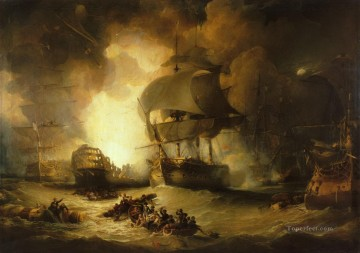 Battles Art Painting - The Battle of the Nile Naval Battles