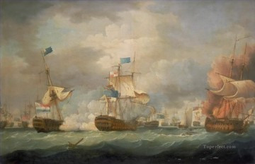 Thomas Whitcombe Battle of Camperdown Oil Paintings