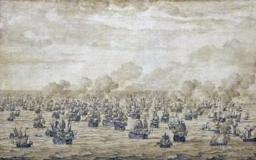 Van de Velde Battle of Schooneveld Sea Warfare Oil Paintings
