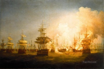Battles Art Painting - Whitcombe Battle of the Nile Naval Battles