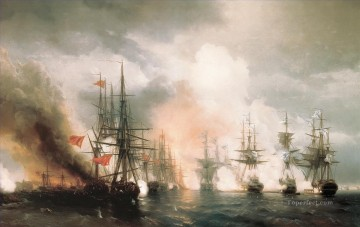 Warship Painting - battle of sinop the day