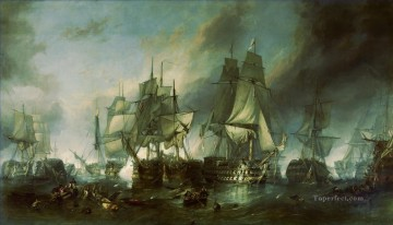 Warship Painting - saving overboard in sea battle