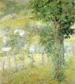 Hillside in Summer impressionism landscape Robert Reid woods forest